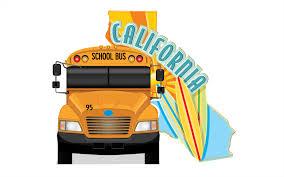 California School Bus Lettering Yellow Bus Decals