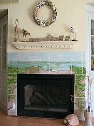 beach fireplace by dy s art tiles