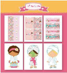Candy Bar Party Spa Etiquetas Invtacion Wrappers Imagenes Y