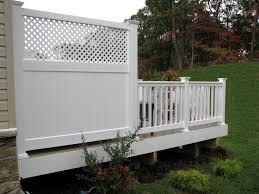Azek Low Maintenance 6 Deck Privacy Panel With Lattice Top Deck Privacy Decks Backyard Privacy Screen Deck
