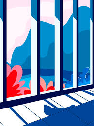 Blue Modern Balcony Fence Background Design Blue Home Fence Background Image For Free Download