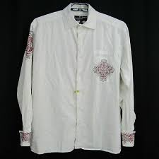on front embroidered shirt size xl