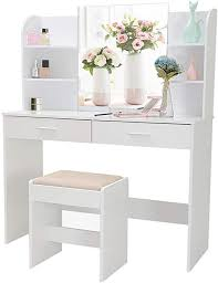 large vanity set with mirror