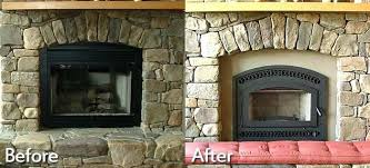 best way to clean stone fireplace