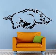 Amazon Com Arkansas Razorbacks Wall Vinyl Decal Sticker Ncaa College Football Sport Home Interior Removable Decor 20 High X 40 Wide Kitchen Dining