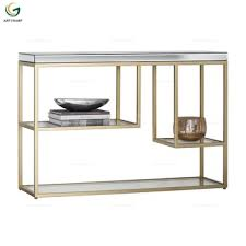 metal frame hallway furniture glass