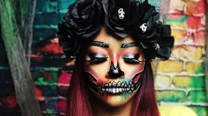 colorful skull makeup bri