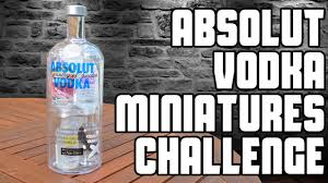 absolut vodka miniatures challenge