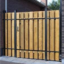 Https Www Homedepot Com P Slipfence 4 Ft X 6 Ft Wood And Aluminum Fence Gate Sf2 Gk100 303150447 Aluminum Fence Gate Wood Fence Gates Aluminum Fence