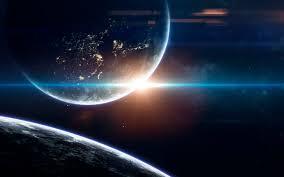 Fondo de pantalla del espacio de ciencia ficción, planetas increíblemente  hermosos, galaxias, belleza oscura y fría del universo sin fin. | Foto  Premium