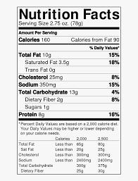 34 doritos cool ranch nutrition label