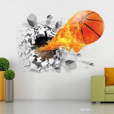 3d Basketball Wall Sticker Decals Basketball Wall Murals Home Decor And Football Wall Stickers Art Sports Pvc Poster For Kids Room Wall Stickers Decoration Wall Stickers Decoration For Home From Valnur 4 53