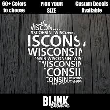 Wisconsin State Window Decal Sticker All 50 States Available Etsy