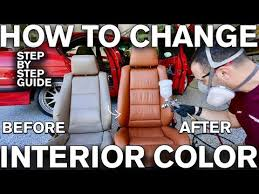 change car interior color with dye