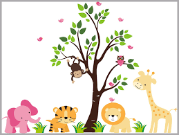 Kids Nursery Wall Decals Safari Animal Themed Jungle Wall Stickers Nurserydecals4you