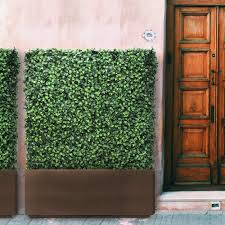 Amazon Com Sunnyroyal 44 5 L X 42 5 H X 13 D Artificial Boxwood Hedge Wall Planter Faux Hedge Privacy Fence Planter Box For Indoor Outdoor Decore Stainless Steel Planter Box Sell Separately