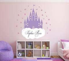 Amazon Com Custom Princess Castle Wall Decal Princess Nursery Wall Decals Personalized Fairy Castle Girl Wall Decor Vinyl Sticker 24 W X 22 H Baby
