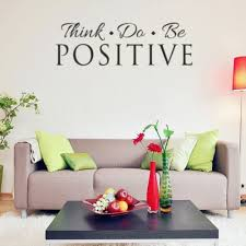 New Think Do Be Positive Wall Decals Vinyl Sticker Decor Quote Room Home Decor Wish
