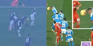 L'arbitro Pasqua non diede rigore alla Fiorentina per la mano di ...