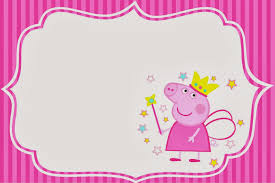 Peppa Pig Fairy Invitations And Free Party Printables Peppa