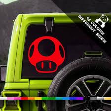 Super Mario Brothers Mushroom Decal Car Truck Bumper Rear Window Laptop Sticker