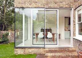 cousins add glass and brick extension