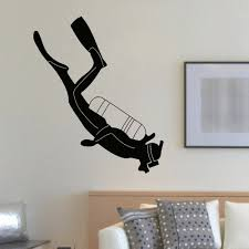 Shop Scuba Diver Wall Art Decal Sticker Overstock 10578095