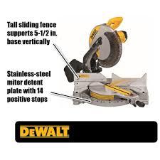 Dewalt 15 Amp Corded 12 In Single Bevel Compound Miter Saw Dws715 The Home Depot