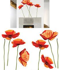 Art Applique Poppies Wall Sticker