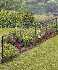 scrolled metal garden fence in 2020