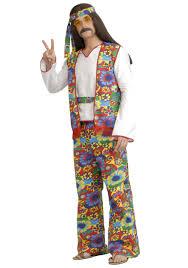 men s plus size hippie costume 1960s