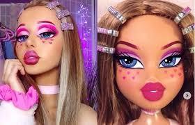 doll face bratz challenge make up