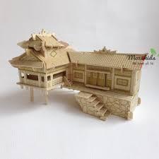 Đồ chơi lắp ráp gỗ 3D Mô hình Nhà sàn chỉ 50.000₫