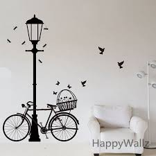 Street Lamp Bike Wall Sticker Bike Lamp Wall Decal Diy Decorating Modern Vinyl Wall Lamp Wallpaper Removable Wall Sticker M2 Wall Sticker Removable Wall Stickersbike Wall Sticker Aliexpress