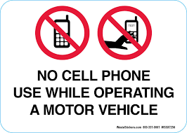 No Cell Phone Use While Operating A Motor Vehicle Decal