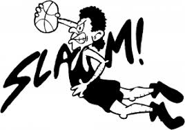 Slam Dunk Basketball Decal Car Or Truck Window Decal Sticker Rad Dezigns