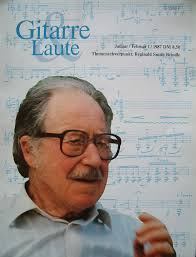 Guitarre & Laute Magazine Jan 1987 - Reginald Smith Brindle