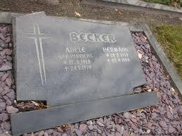 Grab von Adele Becker (geb. Hinrichs) (17.03.1918-24.01.1979), Friedhof  Steenfelde