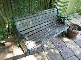 vintage garden bench cast iron ends