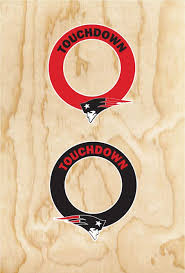 Amazon Com Set Of Two Patriots Cornhole Hole Ring Decals New England Football Everything Else