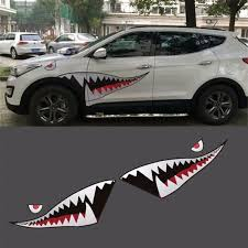 59 Full Size Shark Mouth Tooth Flying Tiger Die Cut Vinyl Decal Car Sticker Car Stickers Aliexpress