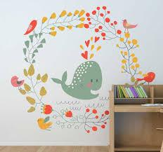 Kids Whale Birds Wall Sticker Tenstickers