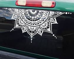 Mandala Car Decal Car Decal Mandala Sticker Half Circle Cute Car Decals Car Decals Car Decals Vinyl