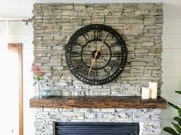 distressed fireplace mantel