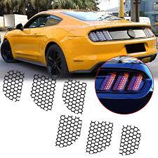 Xotic Tech For Ford Mustang 2015 2019 Rear Tail Light Lamp Honeycomb Sticker Vinyl Decal Trim Car Exterior Accessories Walmart Com Walmart Com