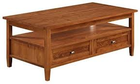 warm shaker collection coffee table
