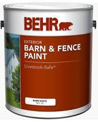 Big Savings For Behr 1 Gal White Exterior Barn And Fence Paint
