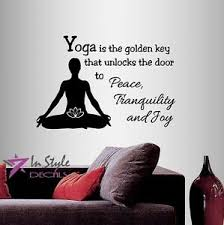 Vinyl Decal Yoga Is Key To Peace Quote Yoga Studio Meditation Wall Sticker 809 Ebay