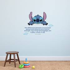 Lack Of Will Lilo Stitch Life Quote Cartoon Quotes Decors Wall Sticker Art Design Decal For Girls Boys Kids Room Bedroom Nursery Kindergarten Home Decor Stickers Wall Art Vinyl Decoration 35x40 Inch