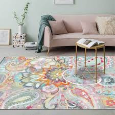 Nordic Watercolor Leaf Printed Carpets Rugs Bedroom Living Room Sofa Decor Non Slip Floor Mat Kids Play Game Tapete Area Rug Floor Carpets Online Carpet Installation Calculator From Lufebut 18 3 Dhgate Com
